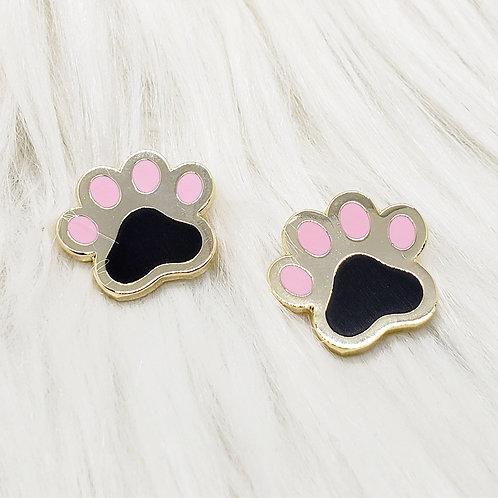 Kitty Pawprints Enamel Pin Set