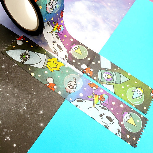 Space Gnomes Gold Foil Washi Tape
