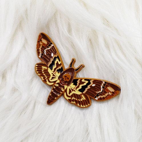 Death's-Head Moth Enamel Pin