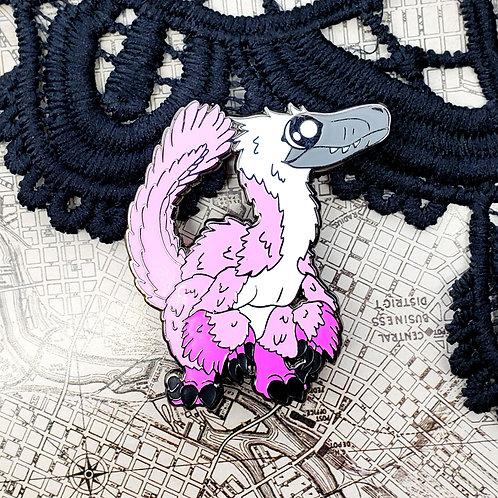 Pastel Velociraptor Enamel Pin