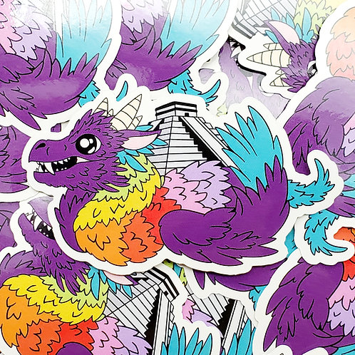 Chichen Itza Dragon Sticker