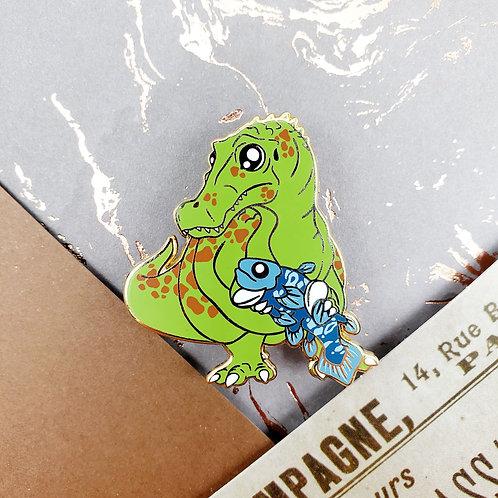 Green Baryonyx Enamel Pin