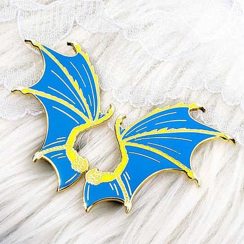 Regal Dragon Wing Enamel Pin Set