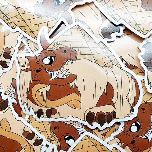 Pyramids Dragon Sticker