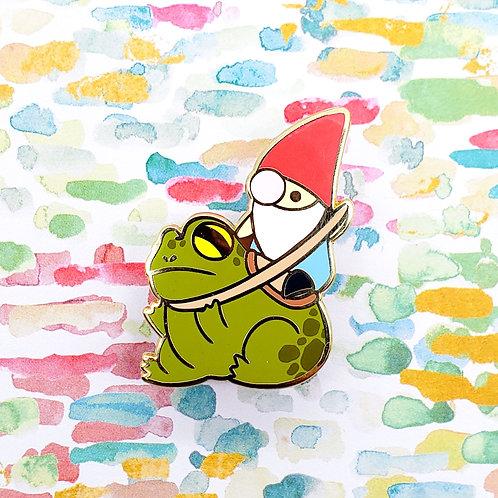 Battle Toad Gnome Enamel Pin