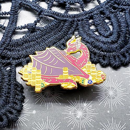 Red Hoarder Dragon Enamel Pin