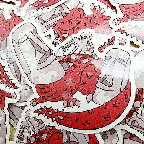 Easter Island Head Dragon Sticker