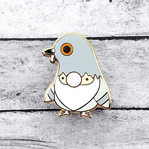 Pigeon Slayer Gnome Enamel Pin