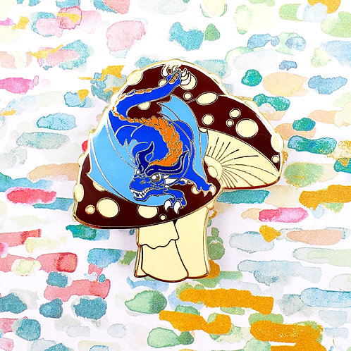 Mushtail Dragon Enamel Pin