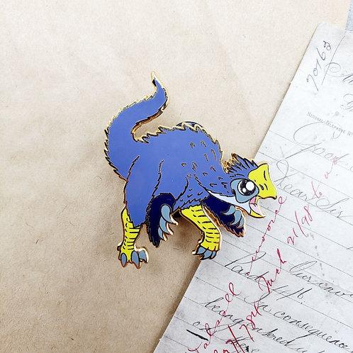 Purple Gigantoraptor Enamel Pin