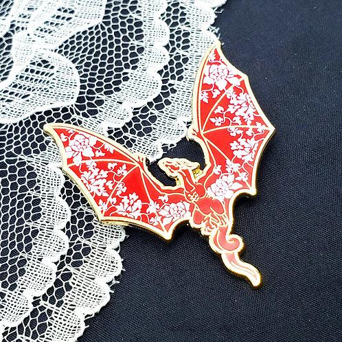 Vintage Porcelain Dragon Enamel Pin