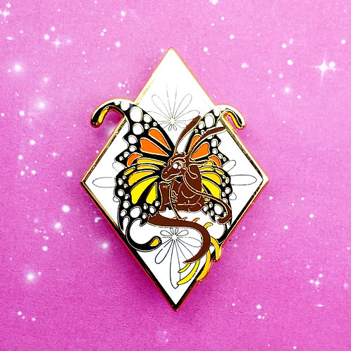 Monarch Butterfly Dragon Enamel Pin