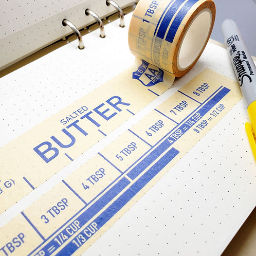 (Salted) Buttered Up Washi Tape