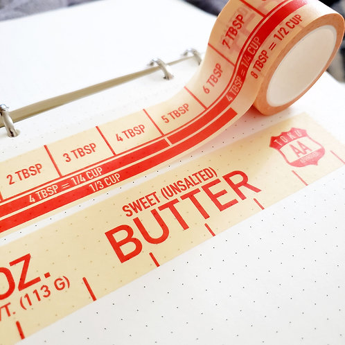 (Unsalted) Buttered Up Washi Tape