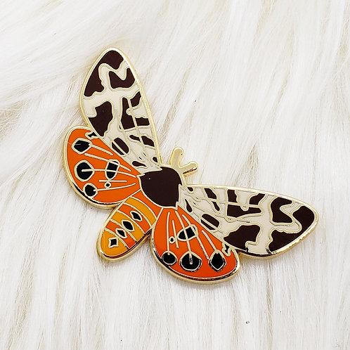 Tiger Moth Enamel Pin