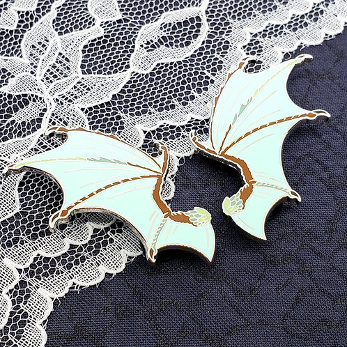 Mint Chocolate Dragon Wing Enamel Pin Set