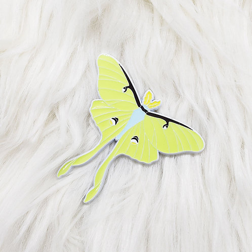 Luna Moth Enamel Pin