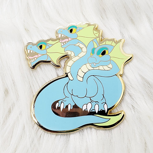 Blue Hydra Enamel Pin