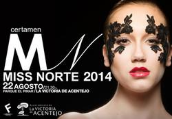 Cartel oficial Miss Norte 2014