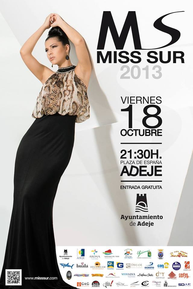 Cartel oficial Miss Sur 2013