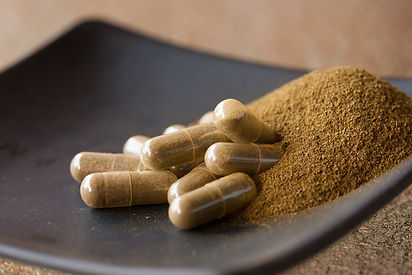 Organic Reishi powder and capsules