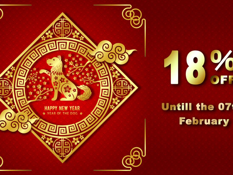 Do not miss our Lunar New Year Promotion. 18% Off on every purchase.