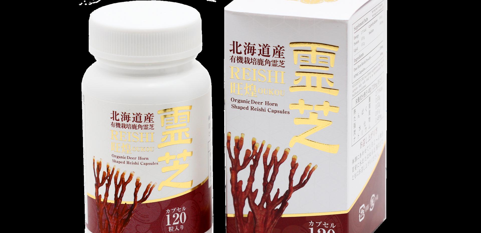 Organic Deer Horn Reishi Capsules Japan