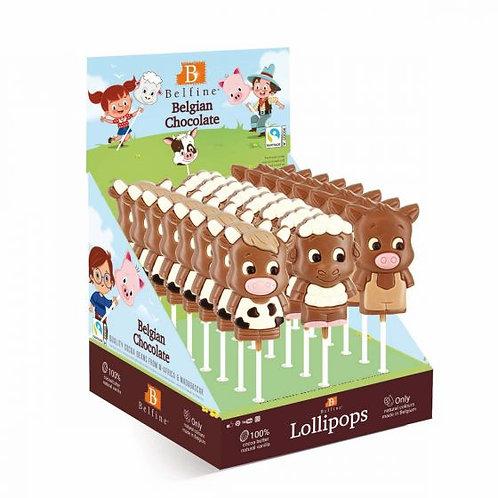 Chocolate Farmyard Lollies
