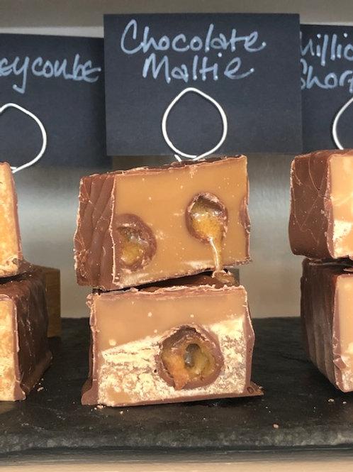 Milk chocolate malti fudge