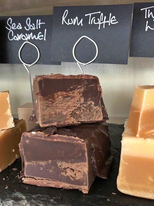 Chocolate Rum Truffle Fudge