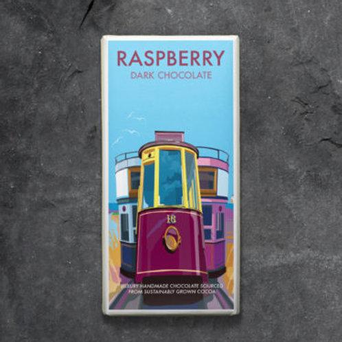 Raspberry in dark chocolate