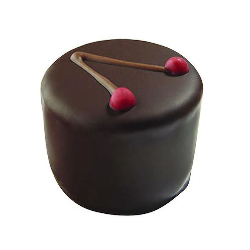 Dark chocolate cherry & kirsch ganache