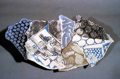 Patchwork pastel platter