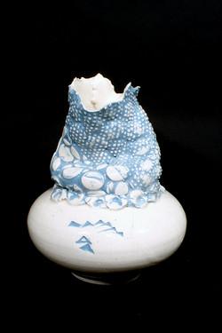 Turquoise collar vase