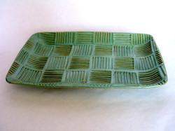 Green turkey platter