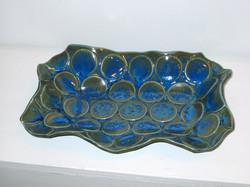 Bronze blue wavy platter