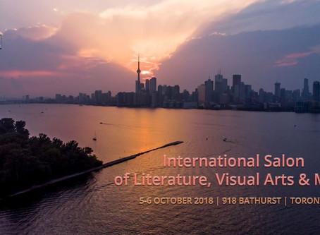 Book Launch at International Salon of Literature, Visual Arts and Music in Toronto Oct 5 & 6, 2018