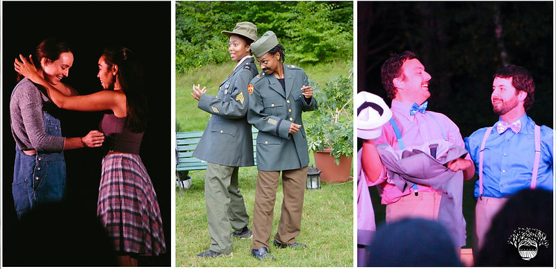 """(L-R: """"Romeo and Juliet"""", """"Much Ado About Nothing"""", The Taming of the Shrew"""". 2019 Season)"""