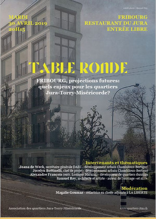 30.04.2019- 20h15 Restaurant du Jura  TABLE RONDE - Projections futures ....