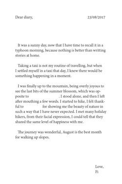 Diary on 23/08/2017