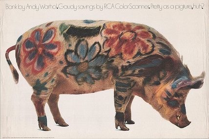 Non disponibile - Andy Warhol, Bank of Andy Warhol Gaudi savings by RCA Color Scanner. Pretty as a Pigture, huh?
