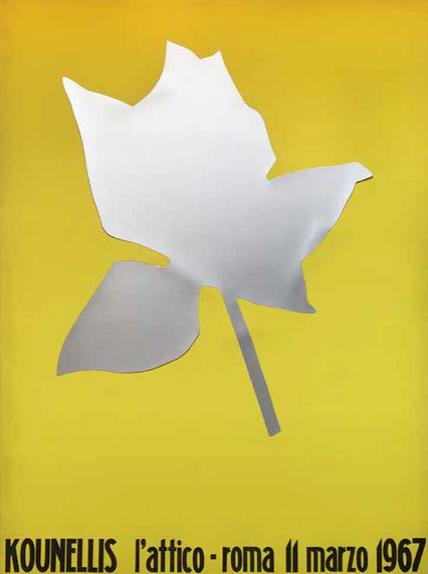 NON DISPONIBILE - Kounellis, manifesto mostra a L'Attico, 1967