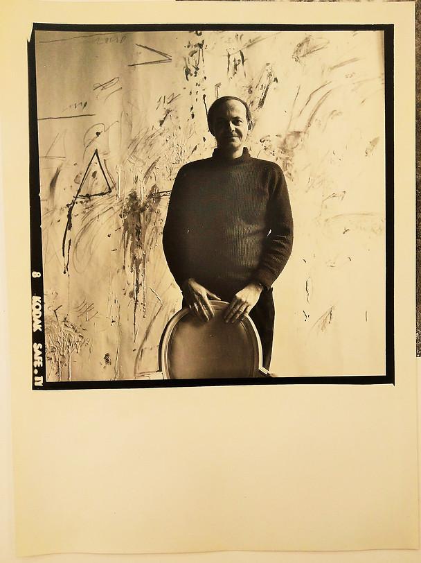 venduto - (Cy Twombly) Joseph Leombruno, Ritratto di Cy Twombly, 1968