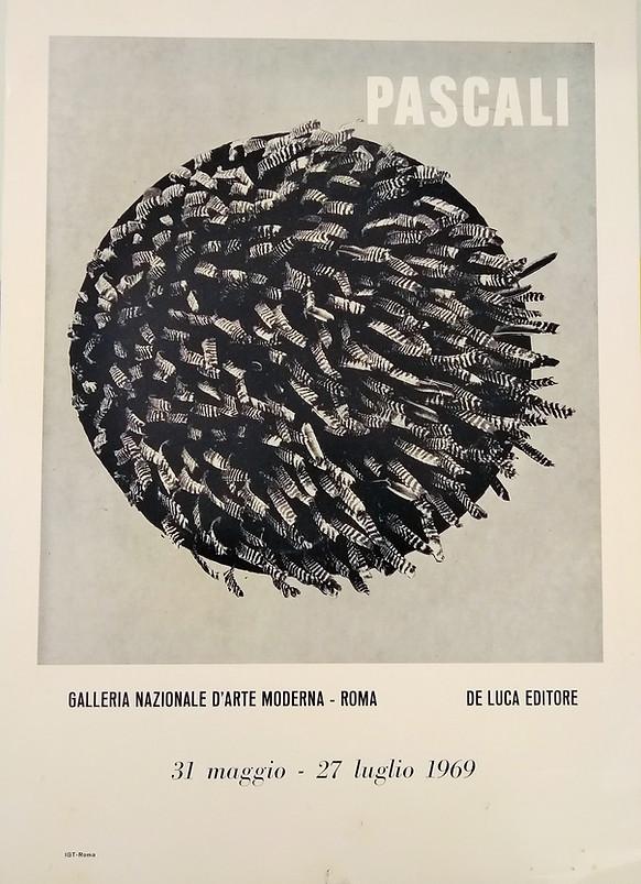 Pino Pascali, locandina poster mostra Galleria Nazionale di Arte Moderna, Roma 1969