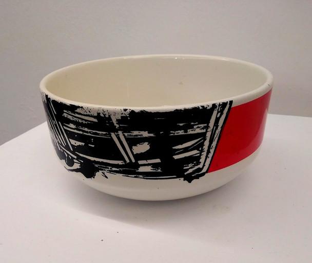 EMILIO SCANAVINO, Ceramica decorata con smalto nero e rosso, s.d., es. 62/200