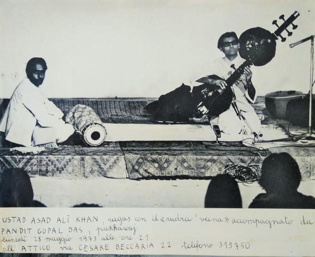 Ustad Asad Alì Khan, L'Attico, 28 maggio 1973