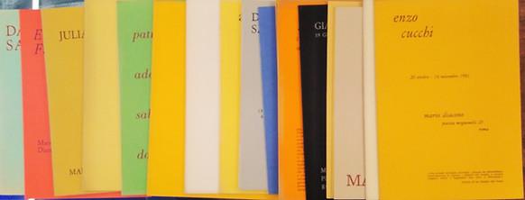 non disponibile - MARIO DIACONO, cataloghi galleria 1981-84