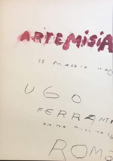 NON DISPONIBILE - Artemisia, Cy Twombly, Manifesto mosta galleria Ugo Ferrante 1980