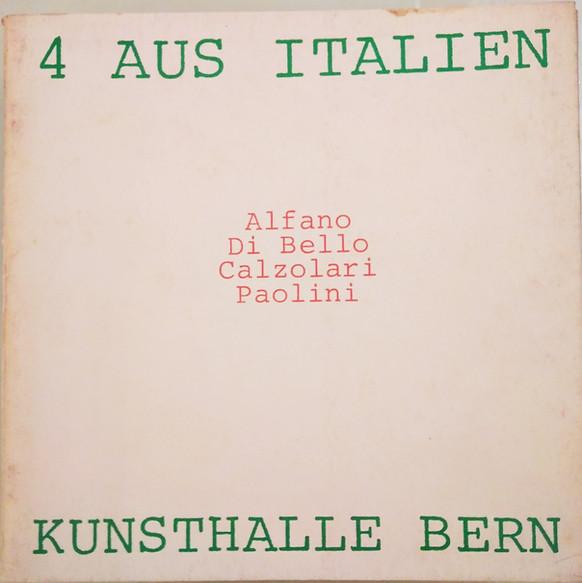 4 Aus Italien, Kunsthalle Bern, 1974