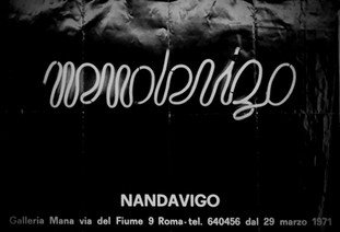 NANDA VIGO, Galleria Mana, Roma, 1971